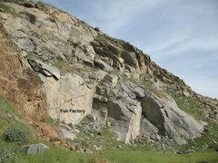 Rock Climbing Photo: Fun Factory, Riverside Quarry
