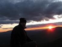 On the Summit of Mt. Flume in NH White Mountains