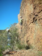 "Rock Climbing Photo: Working through the lower crux of ""Sasha,&quo..."