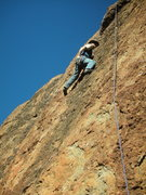 "Rock Climbing Photo: Starting to feel the pump midway up ""Sasha.&q..."