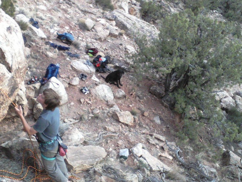 Rock Climbing Photo: some bolted routes on the western slope