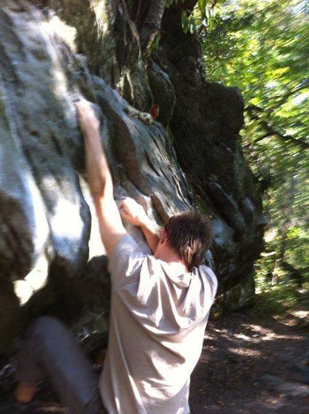 Mushroom Boulder @ Blowing Rock, NC