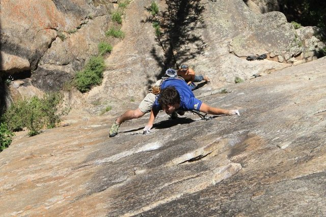 Rock Climbing Photo: Belaying Andrew @ Independence Pass, CO