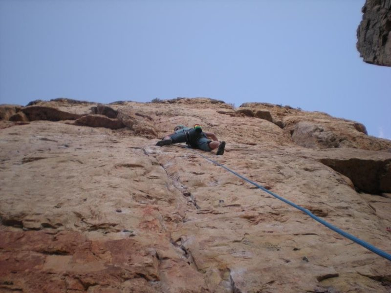 Loved the route. A little greasy at the crux.