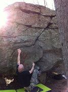 Rock Climbing Photo: Will, failing.