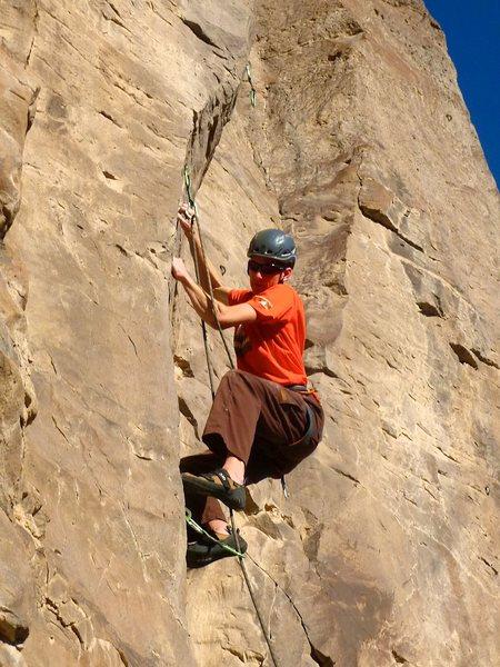 Rock Climbing Photo: Pretty damn stiff for 11d. January 2012.