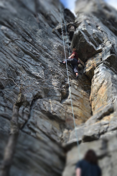 Rock Climbing Photo: Getting to the overhang...