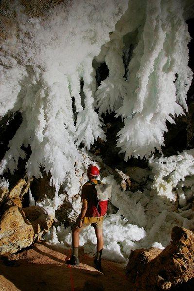 Rock Climbing Photo: Chandelier Ballroom in Lechuguilla Cave (Carlsbad ...