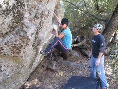 Rock Climbing Photo: January 2012, Mary Hetherington cruisin the first ...