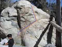 Rock Climbing Photo: Bane and Hush, blue and orange respectively