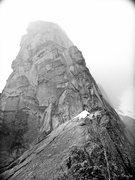 Rock Climbing Photo: Great Gendarme North Ridge of Mt. Stuart. July 201...