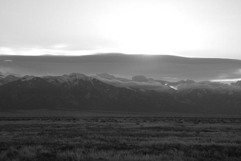 Rock Climbing Photo: Sangre De Cristo Range, early dawn 3-2009.