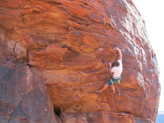 Rock Climbing Photo: Andy climbing Every Mother's Nightmare.  This rout...