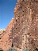 Rock Climbing Photo: Darren on the sweet Unknown 10d.