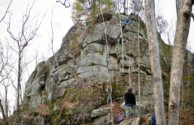 Rock Climbing Photo: A nice looking feature on the far left of the crag...