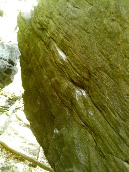 Rock Climbing Photo: Side-pull (V4)
