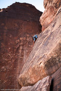 Rock Climbing Photo: Tony Brengosz leading Rocky Road. Jan 2012  mattku...