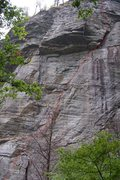 "Rock Climbing Photo: Another view of the 3 pitch ""Squeezins""."