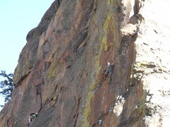 Rock Climbing Photo: Rope-soloing just past the crux.