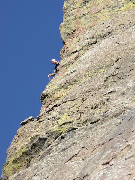 Rock Climbing Photo: Pitch 3, I think.
