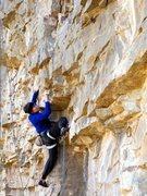 Rock Climbing Photo: Dora step-en up on the FFA.