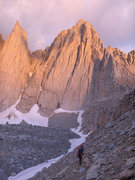 Rock Climbing Photo: Approaching Mt Whitney
