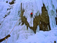 Rock Climbing Photo: Ouray Pillar (right climb) and unknown steep route...