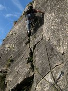 Rock Climbing Photo: Jean Bourgeois leads the second pitch.