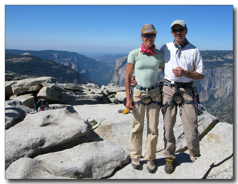 After climbing Snakedike, Half Dome, Yosemite