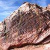 Black Warm Up Boulder Front Topo
