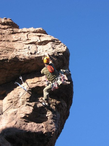 Heading into the crux!