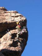 Rock Climbing Photo: Heading into the crux!