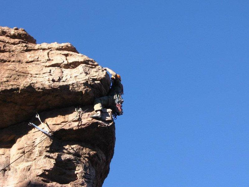Rock Climbing Photo: Just gotta stand up!