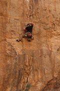Rock Climbing Photo: Pete, in full Ninja mode