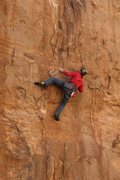 Rock Climbing Photo: Geir eyeballing the next move