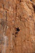 Rock Climbing Photo: Pete nabs the FA
