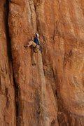 Rock Climbing Photo: John styling the upper section