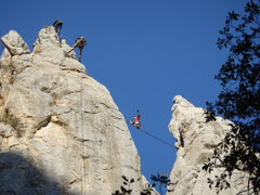Rock Climbing Photo: Highline on the Spires