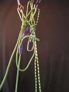 Rock Climbing Photo: belay escape 02 - use tail to attach to the same p...