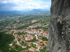 Rock Climbing Photo: The village of Kastraki as seen from Hypotenuse.