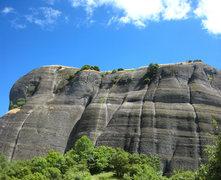 Rock Climbing Photo: The north face of Doupianifels contains a high con...
