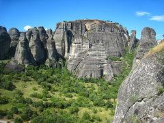 Rock Climbing Photo: Geierwand is the triangular shaped tower resting i...