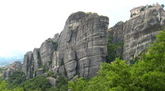 Rock Climbing Photo: Monifels is the small tower in the middle with rui...
