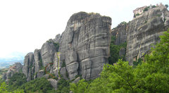 Rock Climbing Photo: Talweg pitches in yellow, belays in green, descent...