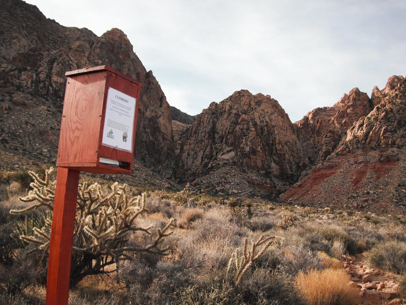 Rock Climbing Photo: Waste Bag Dispenser on the BVC trail 1-9-12 thanks...