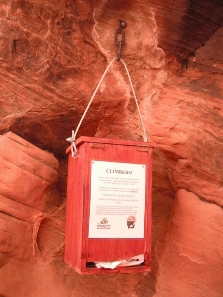 Rock Climbing Photo: Waste Bag dispenser at the Gallery courtesy of the...