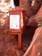 Rock Climbing Photo: Waste Bag dispenser at the Black Corridor courtesy...