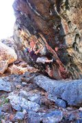 Rock Climbing Photo: East side of Wind-ward Boulder