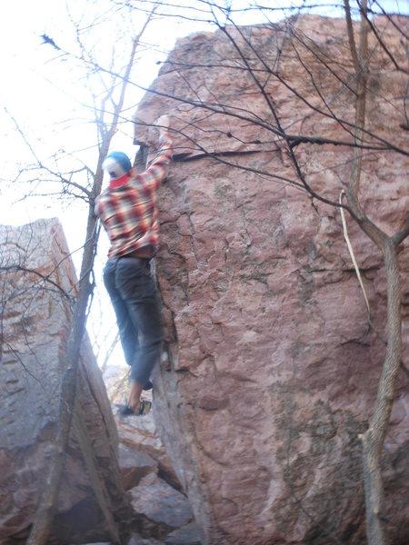 Rock Climbing Photo: Reed sending the Prow