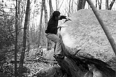 climber: Jeff Marois <br />photograph: Russ Greenwald